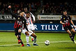 (L-R) Stanley Elbers of Excelsior, Giliano Wijnaldum of Willem II, Fernando Lewis of Willem II during the Dutch Eredivisie match between sbv Excelsior Rotterdam and Willem II Tilburg at Van Donge & De Roo stadium on April 06, 2018 in Rotterdam, The Netherlands