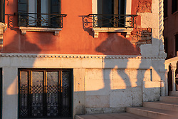 Shadows of passers-by on a bridge in Venice. From a series of travel photos in Italy. Photo date: Tuesday, February 12, 2019. Photo credit should read: Richard Gray/EMPICS Entertainment
