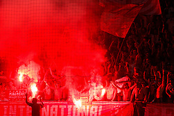 August 3, 2017 - Ljubljana, Slovenia, Slovenia - Funs of SC Freiburg and during the UEFA Europa League Third Qualifying Round match between SC Freibur and NK Domzale at Arena Stozice on 3 rd August , 2017 in Ljubljana, Slovenia. (Credit Image: © Damjan Zibert/NurPhoto via ZUMA Press)
