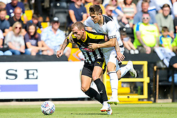 Lewis Alessandra of Notts County takes on Timi Elsnik of Derby County - Mandatory by-line: Robbie Stephenson/JMP - 14/07/2018 - FOOTBALL - Meadow Lane - Nottingham, England - Notts County v Derby County - Pre-season friendly