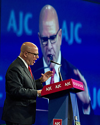 June 4, 2017 - Washington, District of Columbia, United States of America - United States National Security Advisor Lieutenant General H.R. McMaster addresses the American Jewish Committee (AJC) Global Forum at the Washington Hilton Hotel in Washington, DC on Sunday, June 4, 2017.  In his remarks McMaster reaffirmed the unbreakable bond between the U.S. and Israel..Credit: Ron Sachs (Credit Image: © Ron Sachs/CNP via ZUMA Wire)