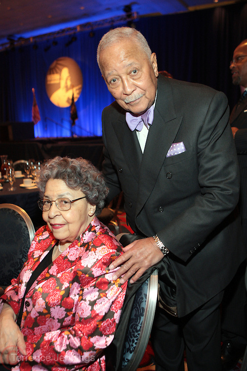 6 April 2011- New York,  NY- Former New York City Mayor David Dinkins and wife, Joyce Dinkins at the The National Action Network' Keepers of the Dream Awards Gala held at the The Sheraton Hotel and Towers on April 6, 2011 in New York City.  Photo Credit: Terrence Jennings