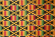 Ashanti Kente cloth exhibited in the national museum. Accra. Ghana. West Africa.