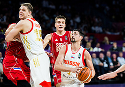 Bogdan Bogdanovic of Serbia vs Aleksei Shved of Russia during basketball match between National Teams of Russia and Serbia at Day 16 in Semifinal of the FIBA EuroBasket 2017 at Sinan Erdem Dome in Istanbul, Turkey on September 15, 2017. Photo by Vid Ponikvar / Sportida