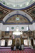 El-Jazzar Moschee innen, Altstadt, Akko, Israel.|.El-Jazzar Mosque, interior, old town of Akko, Israel.