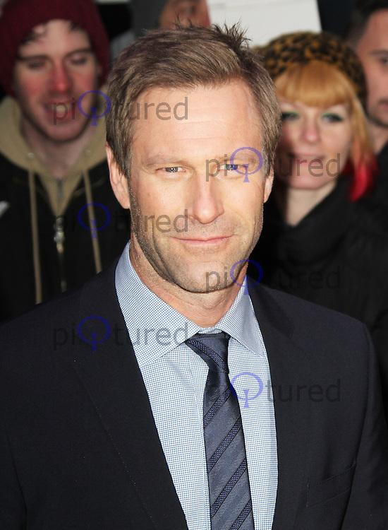 Aaron Eckhart, Olympus Has Fallen European Film Premiere, BFI IMAX, London UK, 03 April 2013, (Photo by Richard Goldschmidt)
