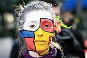 2009-09-28/ Javier Calvelo - adhocFOTOS/ URUGUAY/ MONTEVIDEO/ Plaza  Cagancha/ Movilizacion organizada por MYSU/ Mujer y Salud en Uruguay (MYSU) es una organizaci&oacute;n no gubernamental, feminista cuya misi&oacute;n es la promoci&oacute;n y defensa de la salud y los derechos sexuales y los derechos reproductivos desde una perspectiva de g&eacute;nero y generaciones.<br />  dia lunes.<br /> En la foto:  Movilizacion organizada por MYSU en Plaza Cagancha. Foto: Javier Calvelo/ adhocFOTOS