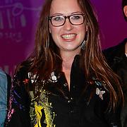NLD/Amsterdam/20130404- Presentatie kledinglijn Rock & Roll Junkie van Lola Brood, Lola Brood en modellen op de catwalk