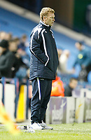 Photo: Steve Bond.<br />Sheffield Wednesday v Everton. Carling Cup. 26/09/2007. David Moyes watches impassivekly