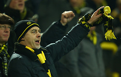 November 21, 2017 - Dortmund, Germany - Borussia Dortmund Fan. during UEFA Champion  League Group H Borussia Dortmund between Tottenham Hotspur played at Westfalenstadion, Dortmund, Germany 21 Nov 2017  (Credit Image: © Kieran Galvin/NurPhoto via ZUMA Press)