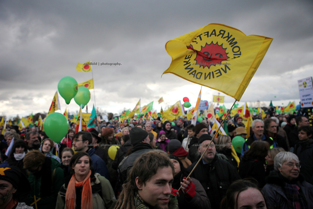 Unrest in Lüchow-Dannenberg. 50.000 people demonstrate against a transport of 11 Castor containers filled with high radioactive waste to Gorleben, Lower Saxony, Germany. The protest takes place shortly after the governments unpopular decision to extend the period of operation for german nuclear power plants for an additional decade.