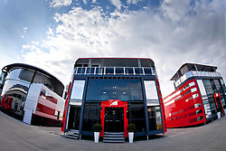 10.07.2011, Silverstone Circuit, Silverstone, GBR, F1, Großer Preis von Großbritannien, Silverstone, im Bild das Motorhome von Ferrari // the motor home of Ferrari during the during the Formula One Championships 2011 British Grand Prix held at the Silverstone Circuit, Northamptonshire, United Kingdom, 2011-07-10, EXPA Pictures © 2011, PhotoCredit: EXPA/ J. Feichter