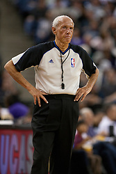 March 14, 2011; Sacramento, CA, USA;  NBA referee Dick Bavetta (27) during the second quarter between the Sacramento Kings and the Golden State Warriors at the Power Balance Pavilion. Sacramento defeated Golden State 129-119.