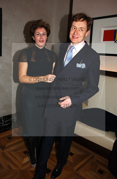 NICK & ALEX FOULKES at a party to celebrate the publication of 'Dancing into Waterloo' by Nick Foulkes held at The Westbury Hotel, Conduit Street, London on 14th December 2006.<br />