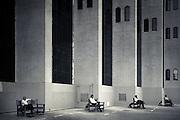 Four Men, Four Benches - Dubai, U.A.E.