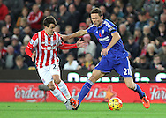 Bojan Krkic of Stoke City and Nemanja Matic of Chelsea in action during the Barclays Premier League match at the Britannia Stadium, Stoke-on-Trent.<br /> Picture by Michael Sedgwick/Focus Images Ltd +44 7900 363072<br /> 07/11/2015
