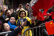 2 February 2014. Chinatown, Manhattan. Chinese Lunar New Year Parade. Photograph by Qingqing Chen/NYCity Photo Wire