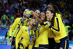 TEAM BRAZIL SELFIE<br /> AWARDING CEREMONY<br /> VOLLEYBALL WOMEN'S WORLD CHAMPIONSHIP 2014<br /> MILAN 12-10-2014<br /> PHOTO BY FILIPPO RUBIN