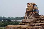 Replica Of Sphinx In Chuzhou Opens Its Inertial Scenery