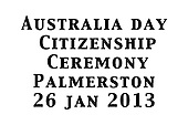 Aus Day Citizen Awards Palmerston 2014