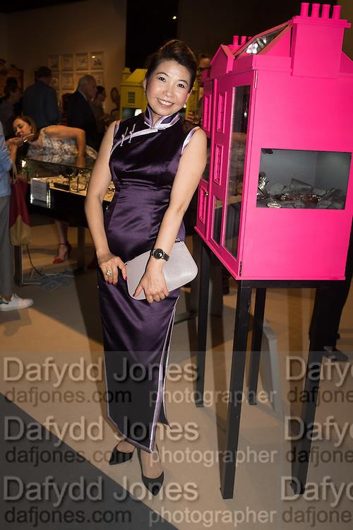 NANCY KAU, The LAPADA Art & Antiques Fair - private view, Berkeley Sq. London. 12  September 2016