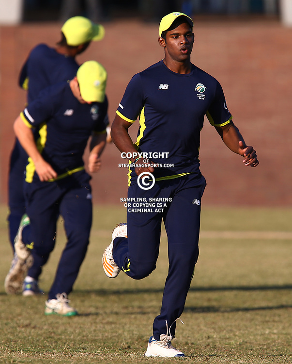 Jiveshan Pillay of the South African Under-19&rsquo;s during the 2nd unofficial ODI match between South Africa Under-19s and West Indies Under-19s Chatsworth Stadium, Durban 19th July 2017(Photo by Steve Haag)<br /> <br /> images for social media must have consent from Steve Haag