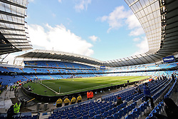 A general view of the Etihad Stadium - Photo mandatory by-line: Matt McNulty/JMP - Mobile: 07966 386802 - 21/03/2015 - SPORT - Football - Manchester - Etihad Stadium - Manchester City v West Bromwich Albion - Barclays Premier League