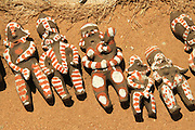 Africa, Ethiopia, Omo River Valley Hamer Tribe handicraft clay dolls