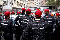 May 26, 2019 - Monte Carlo, Monaco - Motorsports: FIA Formula One World Championship 2019, Grand Prix of Monaco, ..Mechanic of Mercedes AMG Petronas Motorsport pay  tribute to Niki Lauda (22.02.1949 - 20.05.2019) (Credit Image: © Hoch Zwei via ZUMA Wire)
