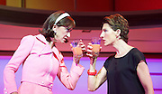Pedro Almodovar's<br /> Women on the Verge of a nervous breakdown The Musical <br /> at the Playhouse Theatre, London, Great Britain <br /> press photocall<br /> 23rd December 2014 <br /> <br /> <br /> Haydn Gwynne as Lucia <br /> Tamsin Greig as Pepa <br /> <br /> Photograph by Elliott Franks <br /> Image licensed to Elliott Franks Photography Services