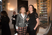 LADY MYNERS; MARGOT HELLER, Stefania Pramma launched her handbag brand PRAMMA  at the Kensington residence of her twin sister, art collector Valeria Napoleone.. London.  29 April 2015