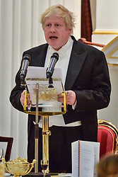 © Licensed to London News Pictures. 28/03/2018. London, UK. BORIS JOHNSON MP, The Foreign Secretary makes a speech at the Easter Banquet at Mansion House. Photo credit: Ray Tang/LNP