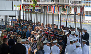 Henley on Thames, England, United Kingdom, Tuesday, 02.07.19, Members of the crews of the Armed Forces, taking part in the King's Cup, Henley Royal Regatta,  Henley Reach, [©Karon PHILLIPS/Intersport Images]<br /> <br /> 11:38:05 1919 - 2019, Royal Henley Peace Regatta Centenary,
