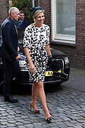 Koningin Máxima opent Asian Library Universiteit Leiden gehouden  in de Pieterskerk in Leiden<br /> <br /> Queen Máxima opens Asian Library Leiden University held in the Pieterskerk in Leiden<br /> <br /> op de foto / On the photo: Aankomst / Arrival