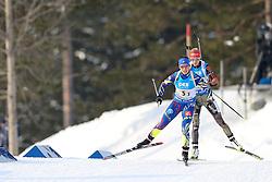 11.03.2016, Holmenkollen, Oslo, NOR, IBU Weltmeisterschaft Biathlon, Oslo, 4x6 Km Staffel, Damen, im Bild Anais Chevalier (FRA), Maren Hammerschmid (GER) // during 4x6 km women relay of the IBU World Championships, Oslo 2016 at the Holmenkollen in Oslo, Norway on 2016/03/11. EXPA Pictures © 2016, PhotoCredit: EXPA/ Newspix/ Tomasz Jastrzebowski<br /> <br /> *****ATTENTION - for AUT, SLO, CRO, SRB, BIH, MAZ, TUR, SUI, SWE only*****