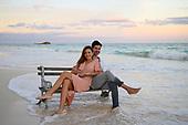 Tulum engaged couple sunset beach -Grecia
