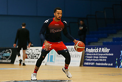 Gentry Thomas of Bristol Flyers during the warm up - Photo mandatory by-line: Arron Gent/JMP - 07/12/2019 - BASKETBALL - Surrey Sports Park - Guildford, England - Surrey Scorchers v Bristol Flyers - British Basketball League Championship