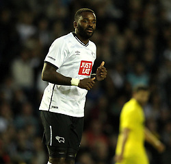 Derby County's Darren Bent - Mandatory by-line: Robbie Stephenson/JMP - 07966386802 - 29/07/2015 - SPORT - FOOTBALL - Derby,England - iPro Stadium - Derby County v Villarreal CF - Pre-Season Friendly