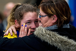17-03-2018 NED: Korfbal SKF v Antilopen, Maarssen<br /> SKF wint met 20-17 in Maarssen / Blijdschap bij Carly Matser #4