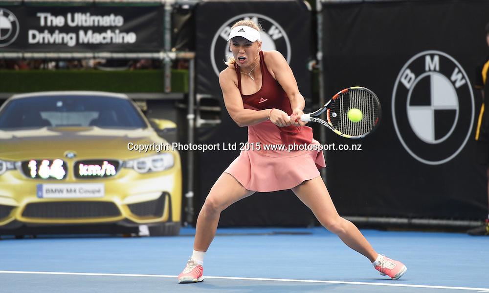 Denmark's Caroline Wozniacki during Semi Finals day at the ASB Classic WTA International. ASB Tennis Centre, Auckland, New Zealand. Friday 9 January 2015. Copyright photo: Andrew Cornaga/www.photosport.co.nz