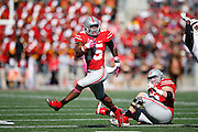 COLUMBUS, OH - OCTOBER 10: Ezekiel Elliott #15 of the Ohio State Buckeyes runs the ball against the Maryland Terrapins during a game at Ohio Stadium on October 10, 2015 in Columbus, Ohio. The Buckeyes defeated the Terrapins 49-28. (Photo by Joe Robbins)