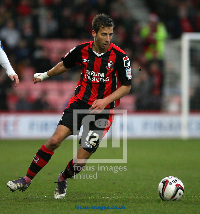 Picture by Daniel Chesterton/Focus Images Ltd +44 7966 018899.15/12/2012.Wes Fogden of AFC Bournemouth during the npower League 1 match at the Seward Stadium, Bournemouth.