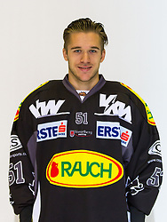 29.08.2012, Messestadion, Dornbirn, AUT, EBEL, Spielerportraits, Dornbirner Eishockey Club, im Bild Alexander Feichtner, (Dornbirner HC, #51)// during Dornbirner Eishockey Club Player Portrait Session at the Messestadion, Dornbirn, Austria on 2012/08/29, EXPA Pictures © 2012, PhotoCredit: EXPA/ Peter Rinderer