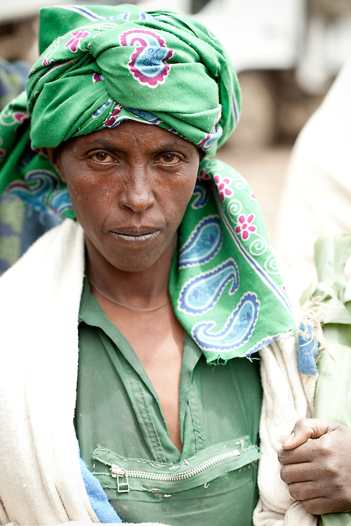 Woman on Market day in Mehal Meda on the Guassa Plateau in the Ethiopian Highlands