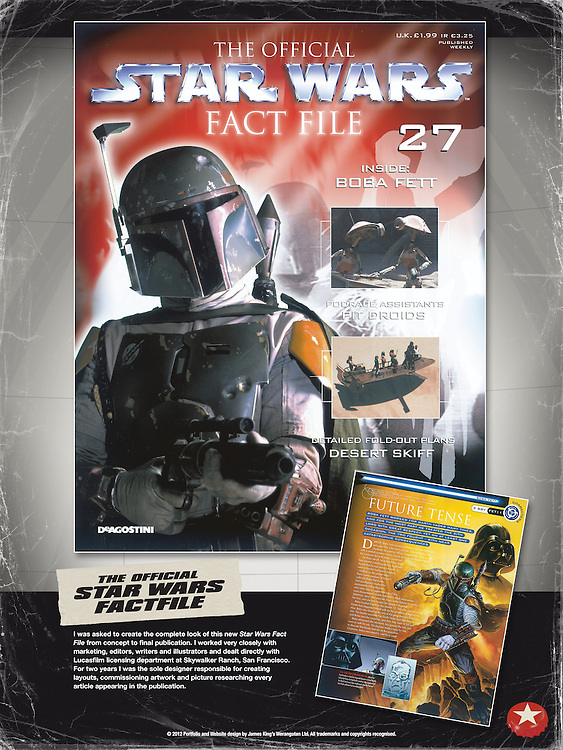 The Official Star Wars Fact File - Front Cover Issue 1.<br />