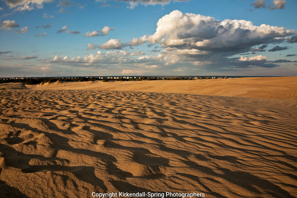 NC01424-00...NORTH CAROLINA - Wind patterns on the dunes at Jockey's Ridge State Park in the late afternoon on the Outer Banks at Nags Head.