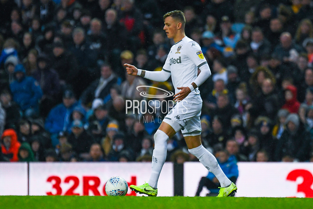 Leeds United defender Ben White (5) passes the ball during the EFL Sky Bet Championship match between Leeds United and Queens Park Rangers at Elland Road, Leeds, England on 2 November 2019.
