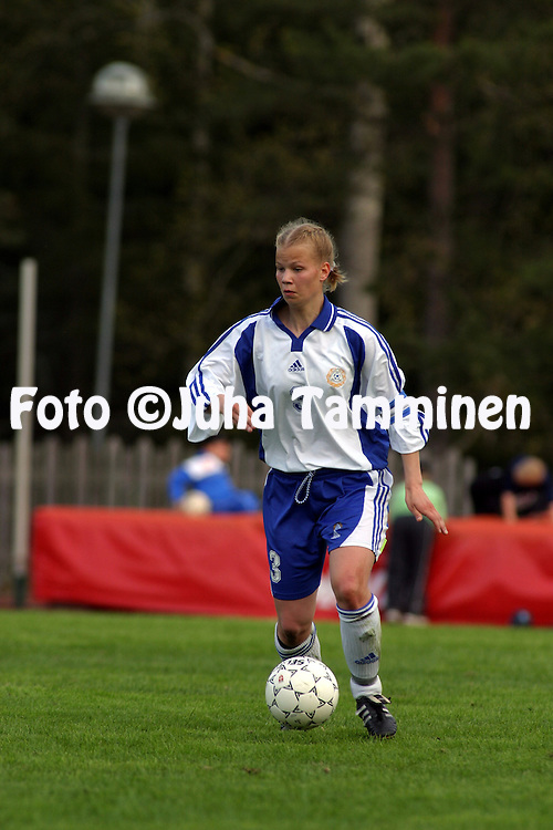 23.05.2003, Eerikkil?n urheiluopisto, Tammela, Finland..Girls under-17 Friendly International Match, Finland v Denmark..Maija Saari - Finland.©Juha Tamminen
