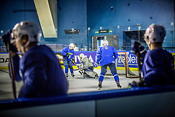 Ales Music of Slovenia vs Matija Pintaric of Slovenia during practice session of Team Slovenia at the 2017 IIHF Men's World Championship, on May 8, 2017 in Accorhotels Arena in Paris, France. Photo by Vid Ponikvar / Sportida