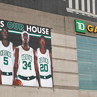 01 June 2012:  Outside view of the TD Garden prior to the Boston Celtics 101-91 victory over the Miami Heat, in Game 3 of the Eastern Conference Finals playoff series, at the TD Banknorth Garden, Boston, Massachusetts, USA.